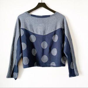Postmark | Anthropologie Polka Dot Cropped Sweater